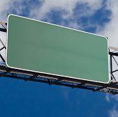 Blank Freeway Sign