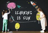 Children Imagination Learning Icon Concept poster