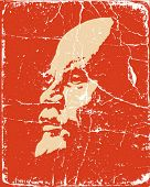 vector portrait of the lenin on poster