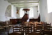 Interior Of Medieval Small Village Church