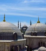 Постер, плакат: The Blue Mosque And Saint Sophie Cathedral Istanbul Turkey