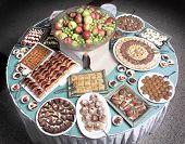 close up shot of Turkish dessert at the buffet