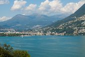 Lugano view from the lake