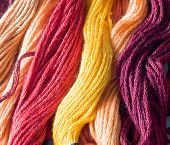warm color yarns