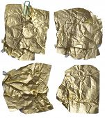 wrinkled gold, shiny papers