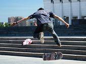 A Boy On A Skateboard