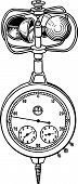 Wind speed measuring anemometer