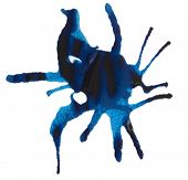 blue ink splash