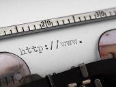 beginning of URL typed on the old mashine