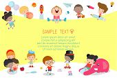 Back To School, Kids School, Education Concept, Kids Go To School, Template For Advertising Brochure poster