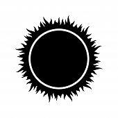 Sun Icon, Vector Sun On White Background, Sun Design Image Vector Eps10, Sun Element White Black poster