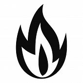 Burning Fire Icon. Simple Illustration Of Burning Fire Vector Icon For Web Design Isolated On White  poster