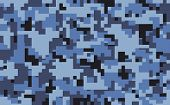 Digital Pixel Camouflage Pattern Background, Seamless Vector Illustration. Military Clothing Style.  poster