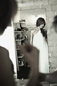 Bride Before Mirror