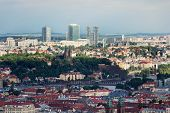 Panoramic View Of Historic Fort Vysehrad With Basilica Of St. Peter And St. Paul, Pankrac District I poster