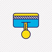 Illustration Of Secure Payment Icon Colored Line. Beautiful Security Element Also Can Be Used As Cre poster