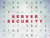 Security Concept: Server Security On Digital Data Paper Background poster