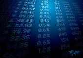 stock photo of stock market data  - stock market figures on a background ideal for reports or finance - JPG