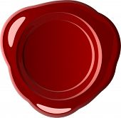 Red wax seal (vector)