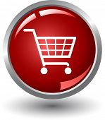 Shopping basket button. Internet Shopping
