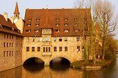 Ein Schloss-Heilig Geist-Spital - Nurnberg, Deutschland