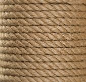 roll of ship ropes as background texture
