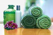 Green Towels In Bathroom