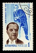 ROMANIA-CIRCA 1964:A stamp printed in ROMANIA shows image of Jean Athanasiu was a baritone Romanian,