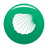 Nature Shell Icon. Simple Illustration Of Nature Shell Vector Icon For Any Design Green poster