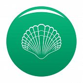 Big Shell Icon. Simple Illustration Of Big Shell Vector Icon For Any Design Green poster