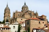 rooftops and Cathedral of Salamanca, Spain