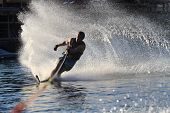 Water Ski Rooster Tail On River #2