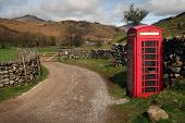 Red Telephone Box in rural England