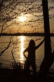 Canadian Silhouette Sunset at River