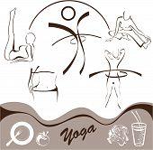 weight loss, vector illustration, yoga set icon