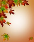 Fall Autumn Leaves Corner Design