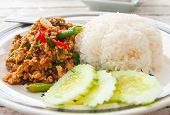Thai Food (Krapao Gai)