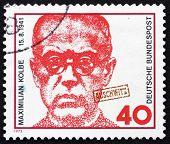Postage stamp Germany 1973 Maximilian Kolbe, Polish Priest