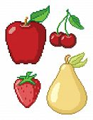 8-Bit Fruit Icons