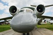 foto of awacs  - A reconnaissance aircraft is photographed close - JPG