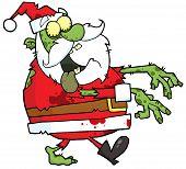 Santa zumbi andando com as mãos na frente