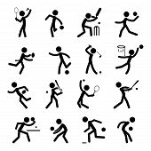 Sport Pictogram Icon Set 01