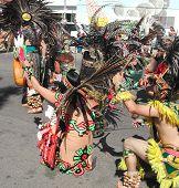 Aztec Dancers In Ceremony