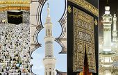 image of kaaba  - Composition on Hajj and visiting Kaaba in Mecca - JPG