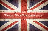 Vintage-Stil Union Jack um die Centenary of World War One, 1914 - 2014 zu gedenken