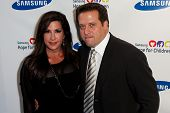 NEW YORK-MAY 29: TV personality Jacqueline Laurita and husband Chris attend the Samsung Hope for Children gala at Cipriani Wall Street on June 11, 2013 in New York City.