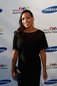 NEW YORK-MAY 29: Actress Rosario Dawson attends the Samsung Hope for Children gala at Cipriani Wall