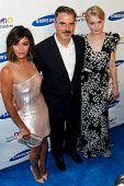 NEW YORK-MAY 29: (L-R) Actress Jessica Szohr, actor Christopher Noth and model Jessica Stam attend t