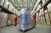 stock photo of forklift  - warehousing  - JPG
