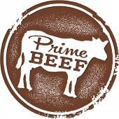 Bife de primeira Menu Design Stamp